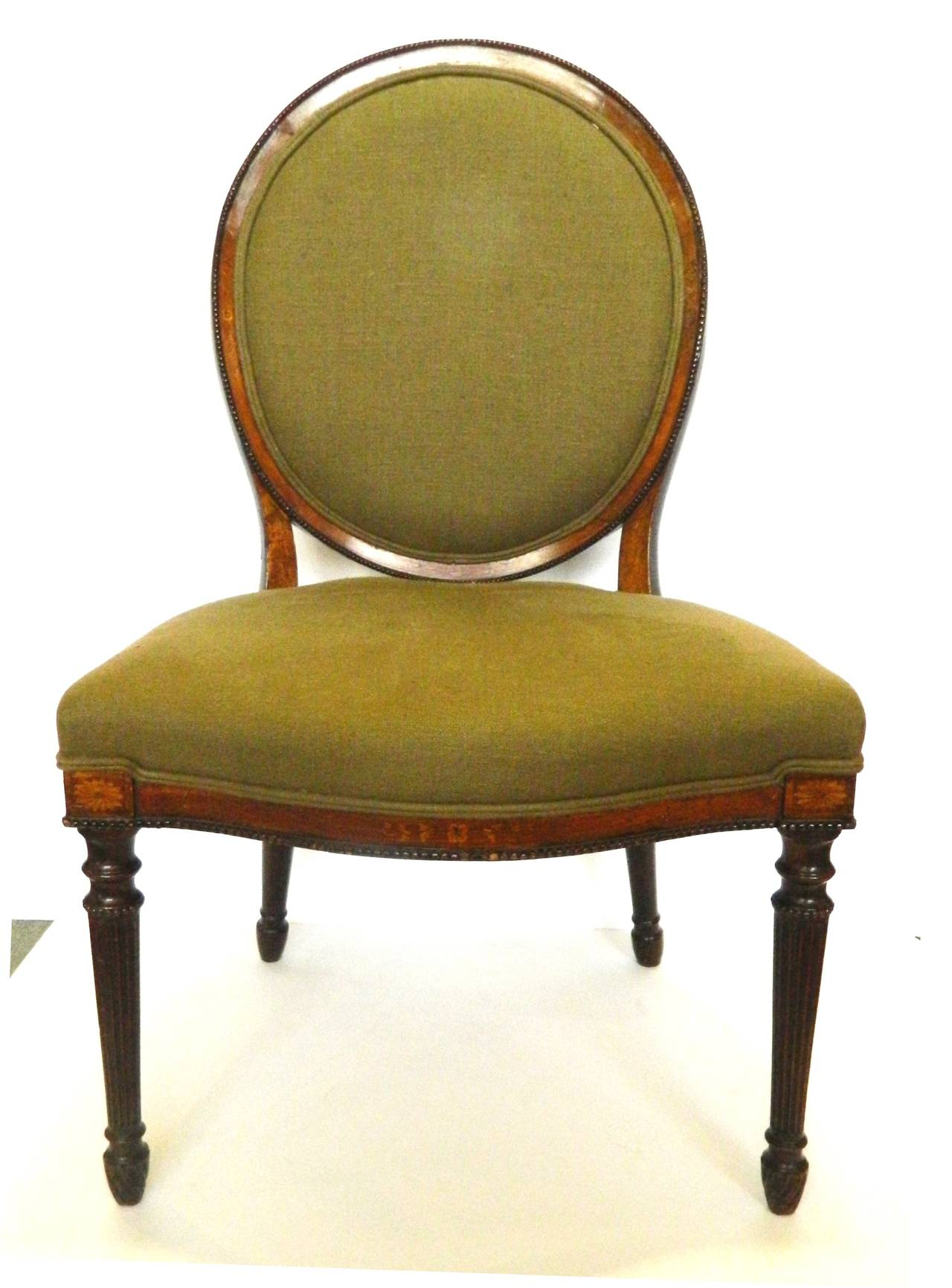 Set of Four Oval Back Side Chairs English circa 1840 at
