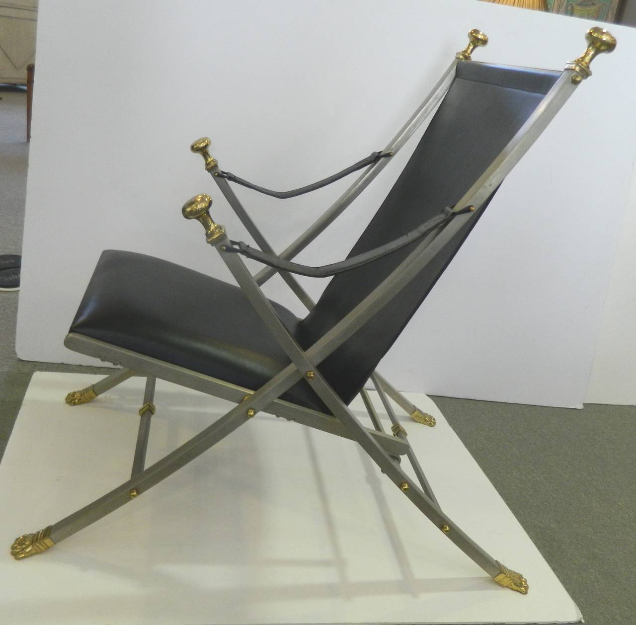 Folding Lounge Chair Mid Century For Sale at 1stdibs