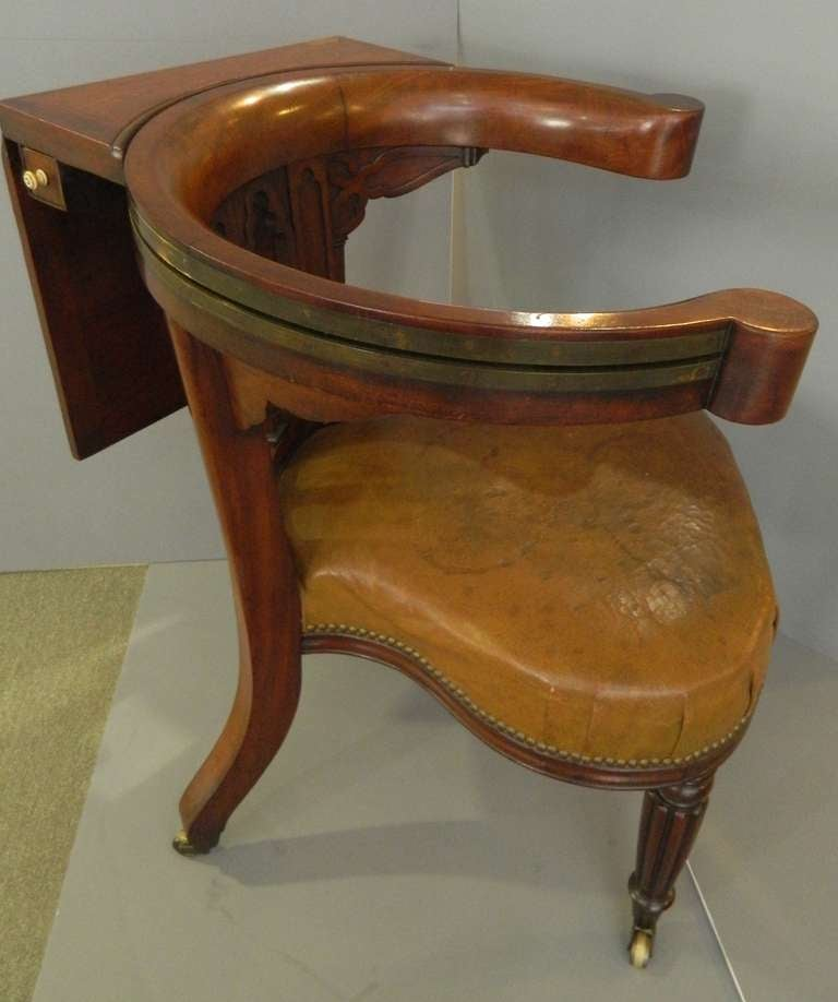 English Regency Reading Chair For Sale at 1stdibs