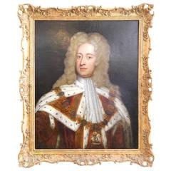 King George II, Oil on Canvas, England, circa 1750