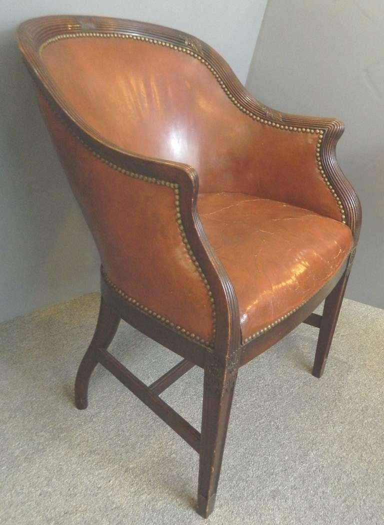 Antique tub chairs - English Mahogany Tub Chair