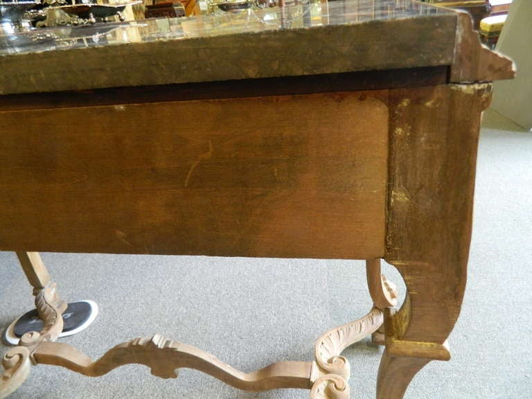 Engraved Limestone Inlay : Ornate carved wood and marble console at stdibs
