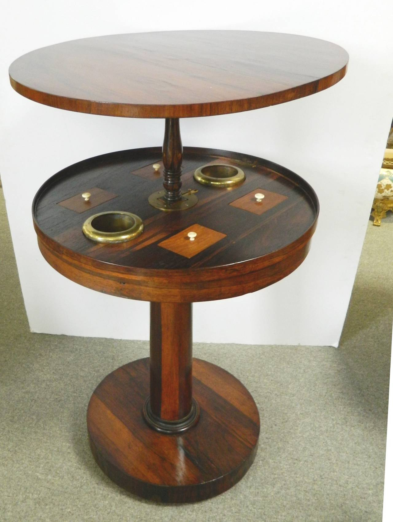 Rosewood smoking table english for sale at 1stdibs for England table
