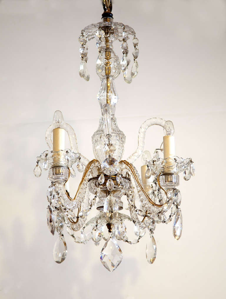 Georgian Chandelier: Petite Georgian Chandelier At 1stdibs