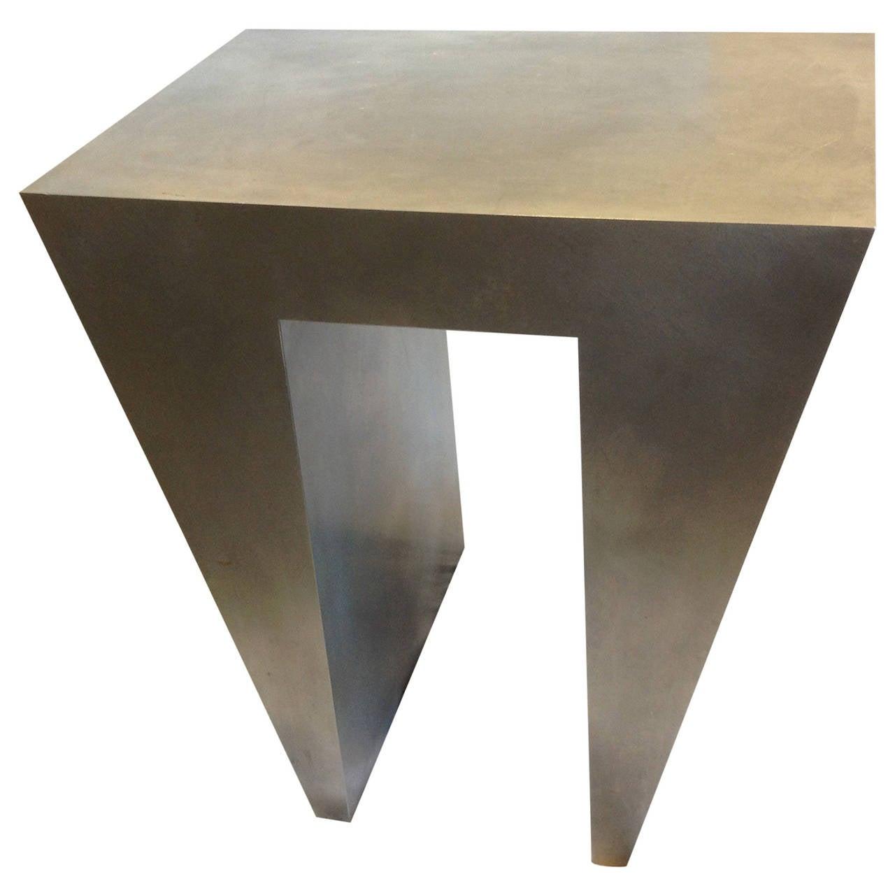Brushed Aluminum Coffee Table: Brushed Aluminum: Brushed Aluminum End Tables