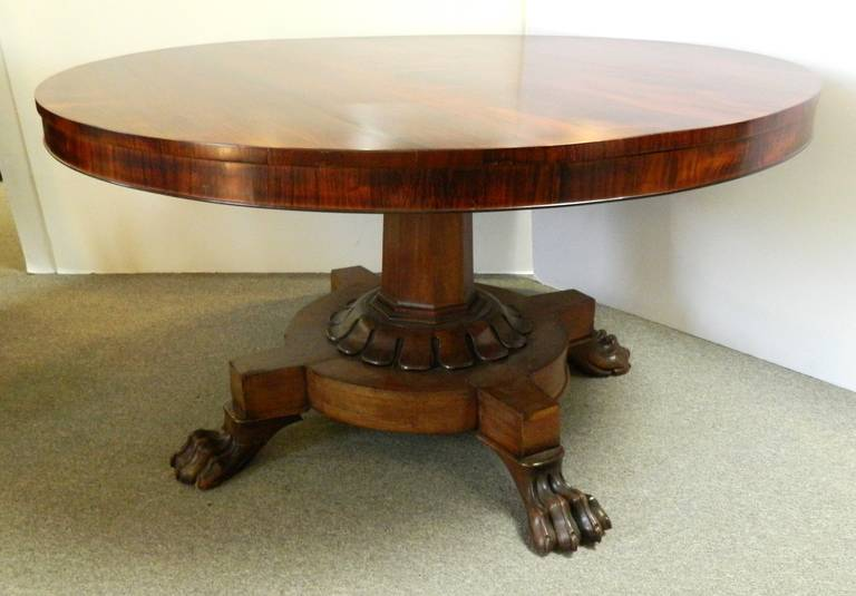Antique Rosewood Round Dining Table At 1stdibs