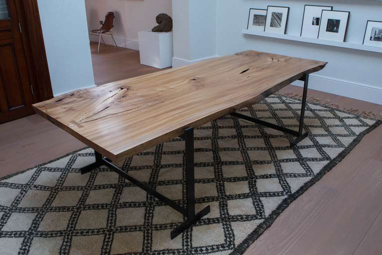 Scottish elm table or desk of beautiful quality for sale Room and board furniture quality
