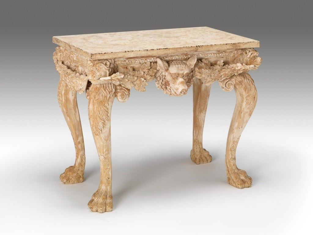 A Pair of Boars Head Tables image 2