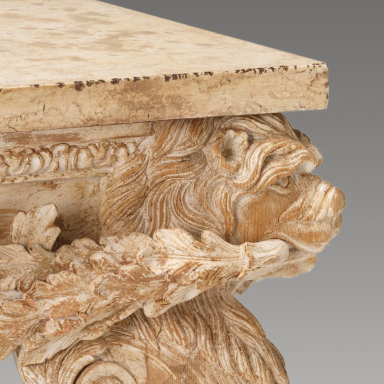 A Pair of Boars Head Tables image 5