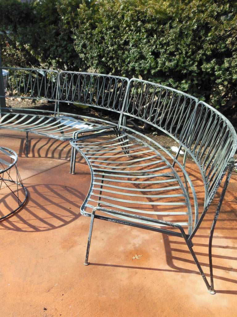 Salterini Patio Furniture Parts: Salterini [Tempistini] Wrought Iron Ribbon Pattern Patio