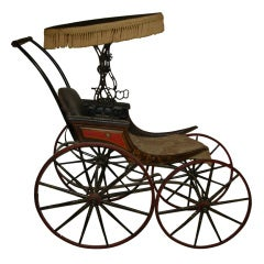 Carriage, Antique Stenciled Childs Carriage