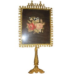 Gothic Revival Gilt Bronze Candle Screen