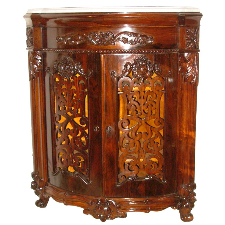 Victorian meeks signed rococo revival rosewood corner for Victorian age furniture