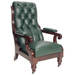 American Classical Mechanical Armchair, 19th Century, Boston