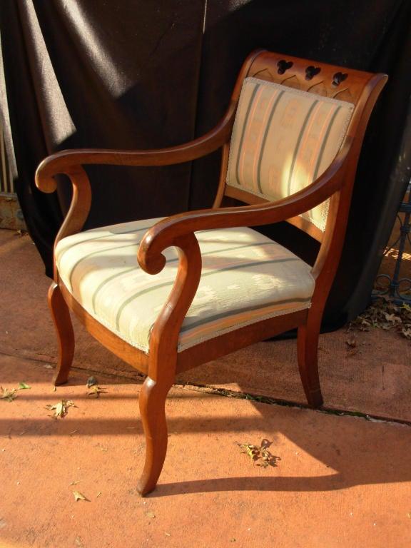 American Gothic Revival Armchair, attrib. to Meeks, 19th c. N. Y. For Sale