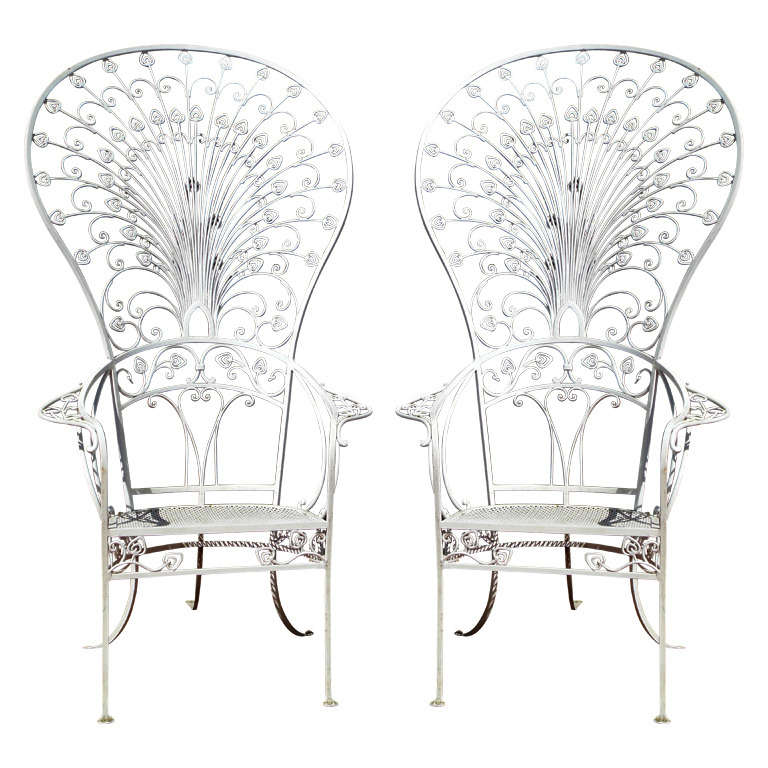 Vintage Salterini Peacock Chairs For Sale