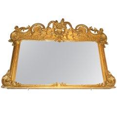 Mantel Mirror, Gilt, American Rococo Revival