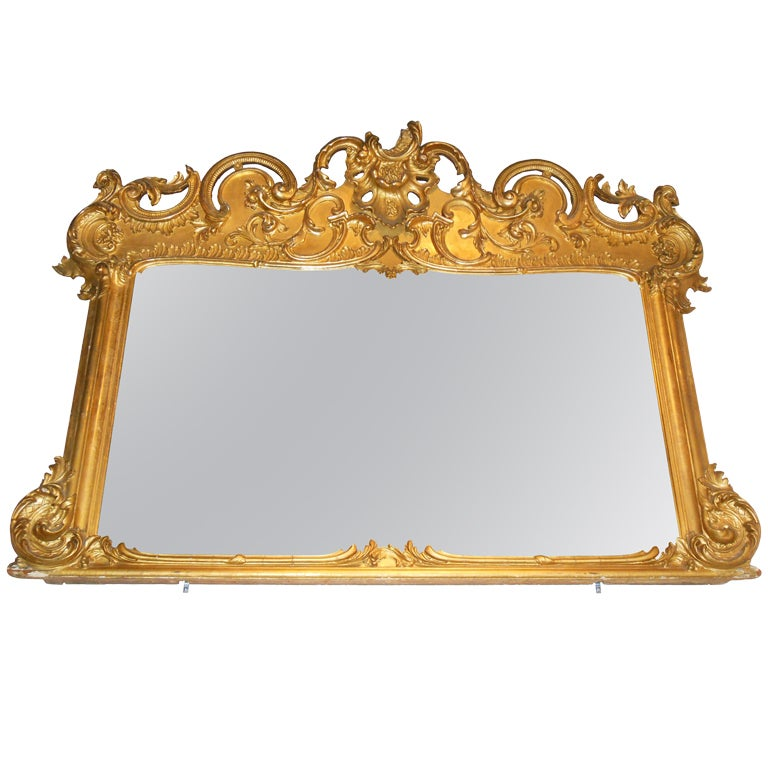 American mantel mirror gilt rococo revival for sale at for Mantel mirrors