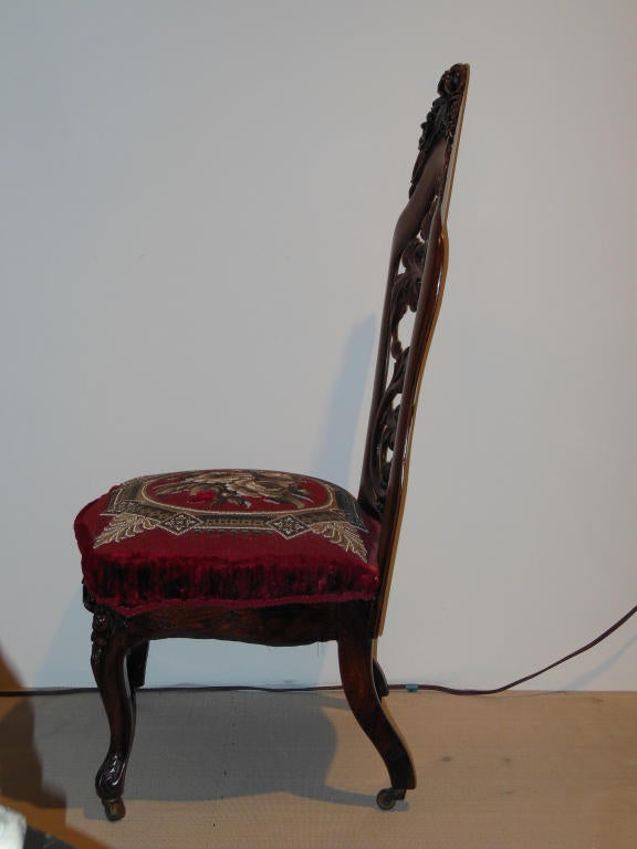 Belter Slipper Chair Rococo Revival NY Circa 1850 For Sale At