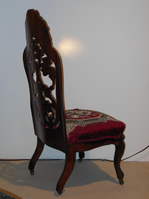 Belter Slipper Chair Rococo Revival NY Circa 1850 At 1stdibs