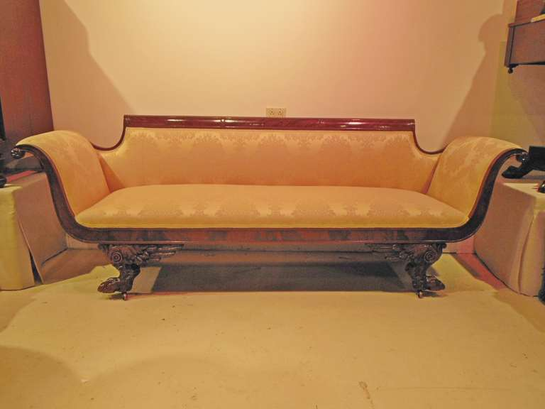 American Classical Sofa Attributed To Duncan Phyfe For Sale At 1stdibs