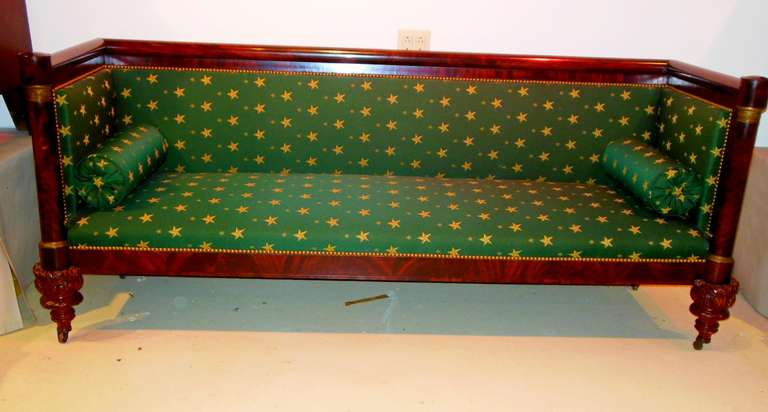 American Classical Box Sofa 19th Century New York For Sale At 1stdibs