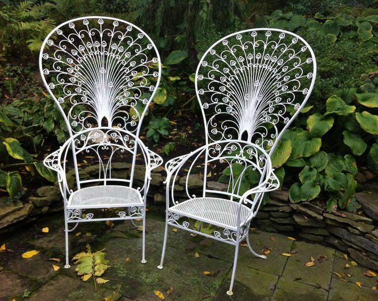 Vintage Salterini Peacock Chairs at 1stdibs