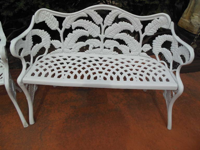Gardern Set, Cast Iron Fern Pattern 5
