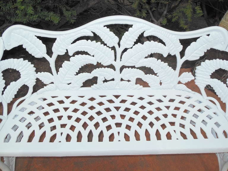 Gardern Set, Cast Iron Fern Pattern 7