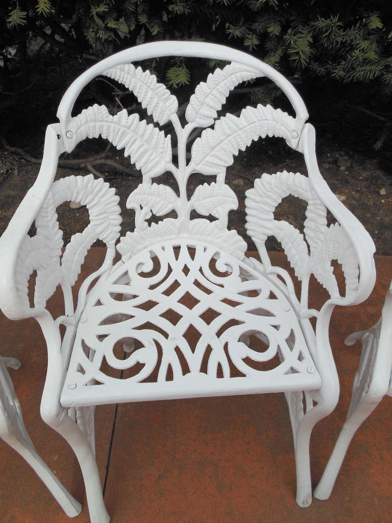 Gardern Set, Cast Iron Fern Pattern 8