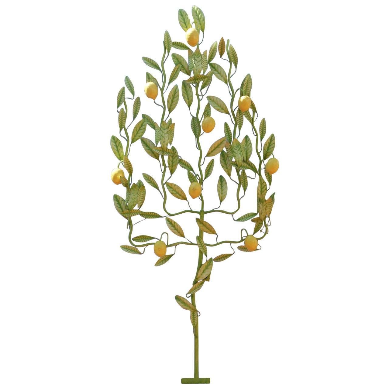 Italian tole lemon tree, 1950