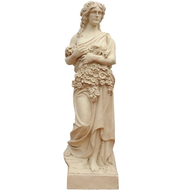Decorative Statue of Flora