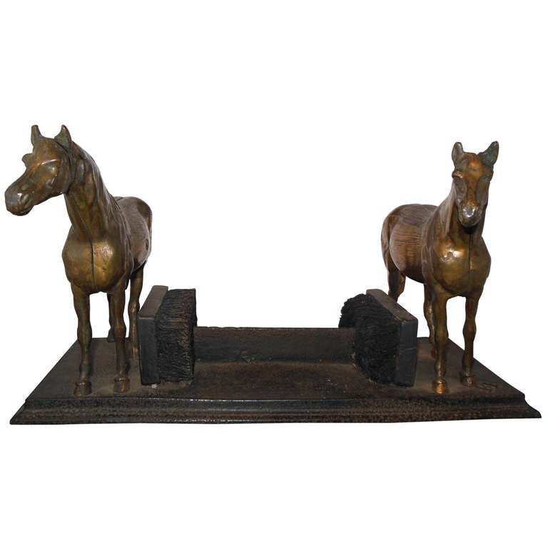 Boot Scraper with Two Horses 1