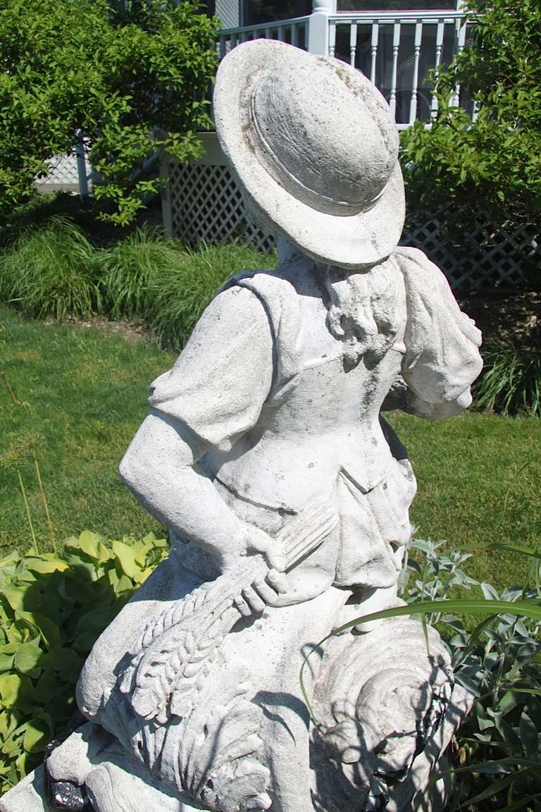 Statue Of Lady With Hat At 1stdibs