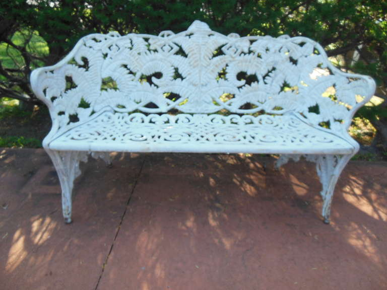 Cast Iron Fern Garden Bench At 1stdibs