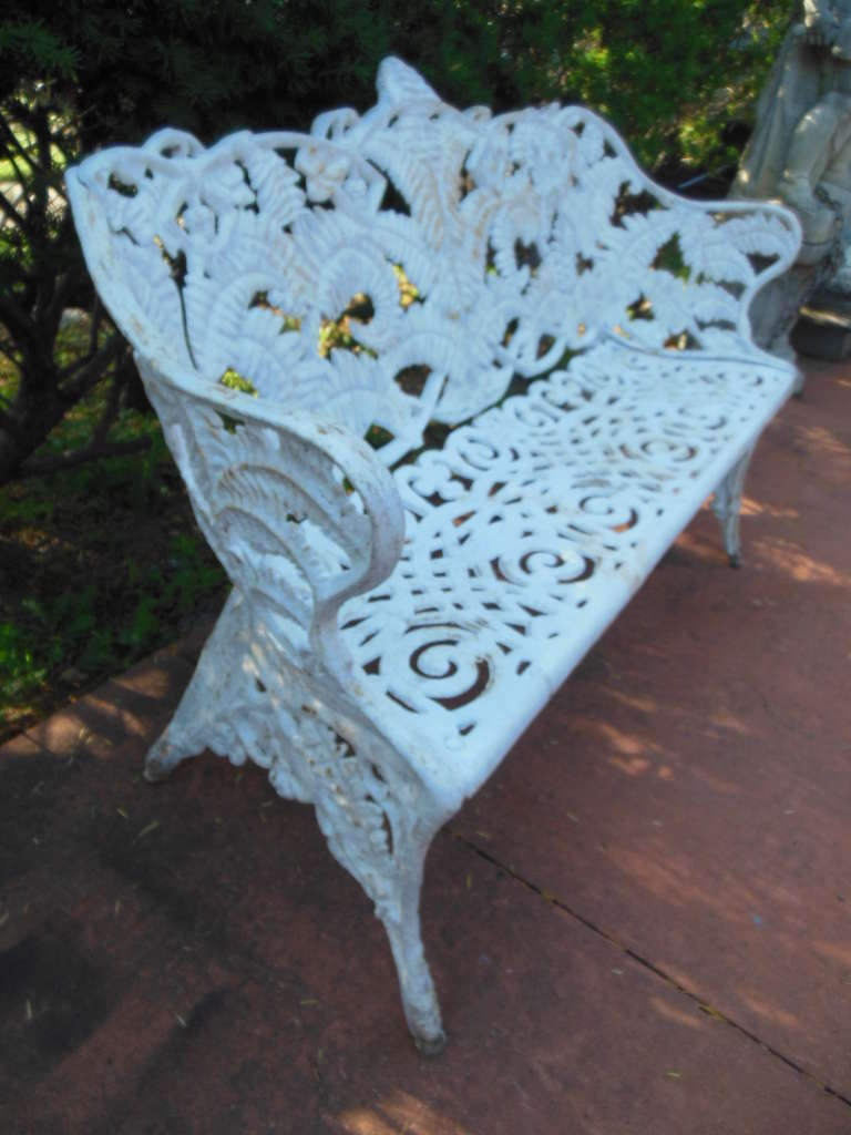 Cast Iron Fern Garden Bench At 1stdibs