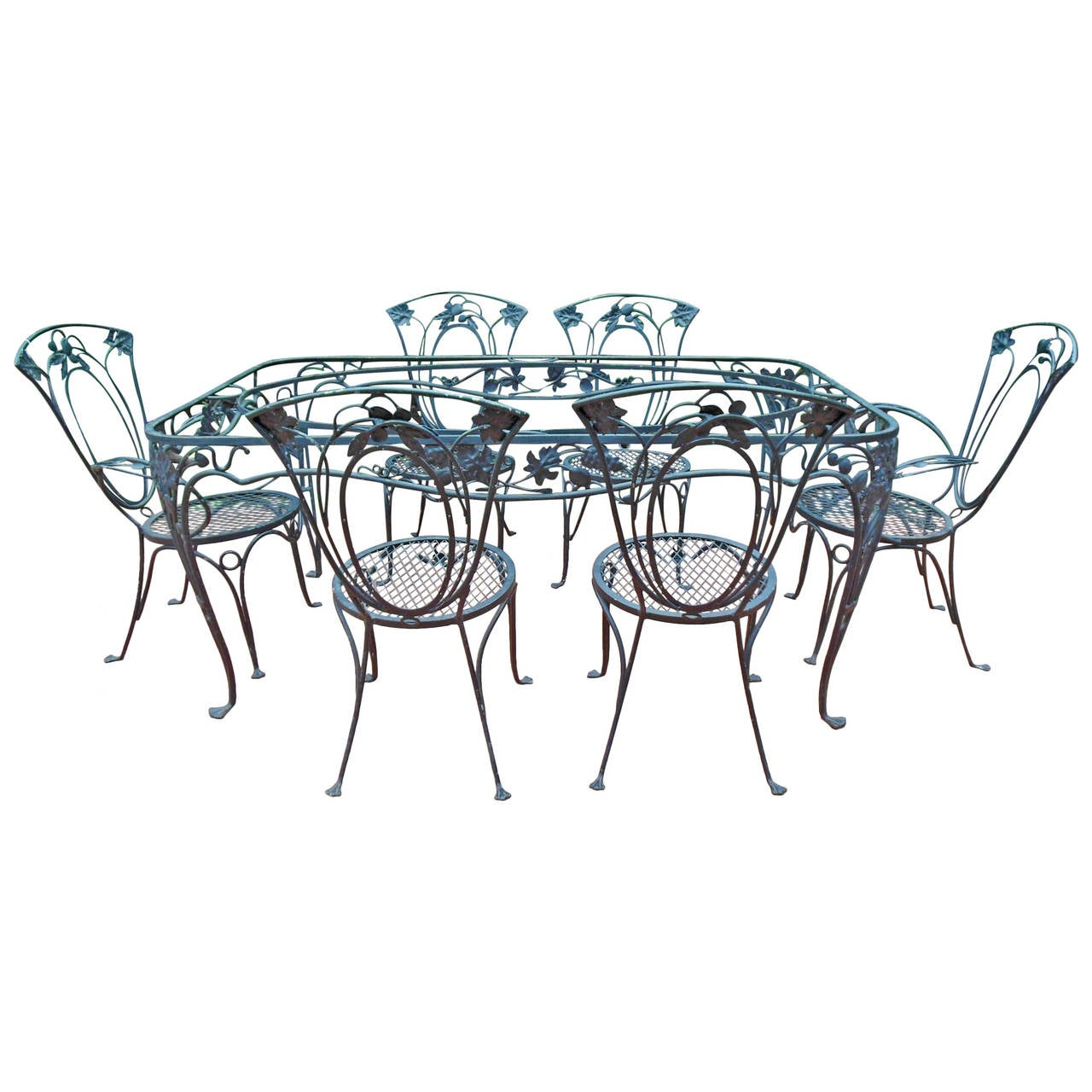 this salterini vintage dining room set of wrought iron is no longer