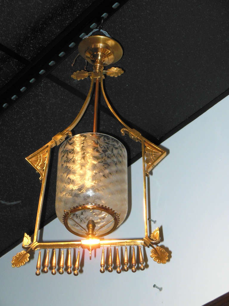Antique Hall Chandelier American Aesthetic Style At 1stdibs