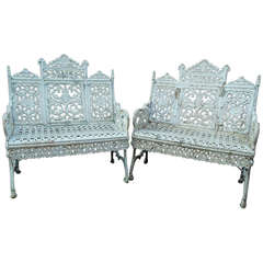 American Cast Iron Benches by Timmes, Brooklyn, NY