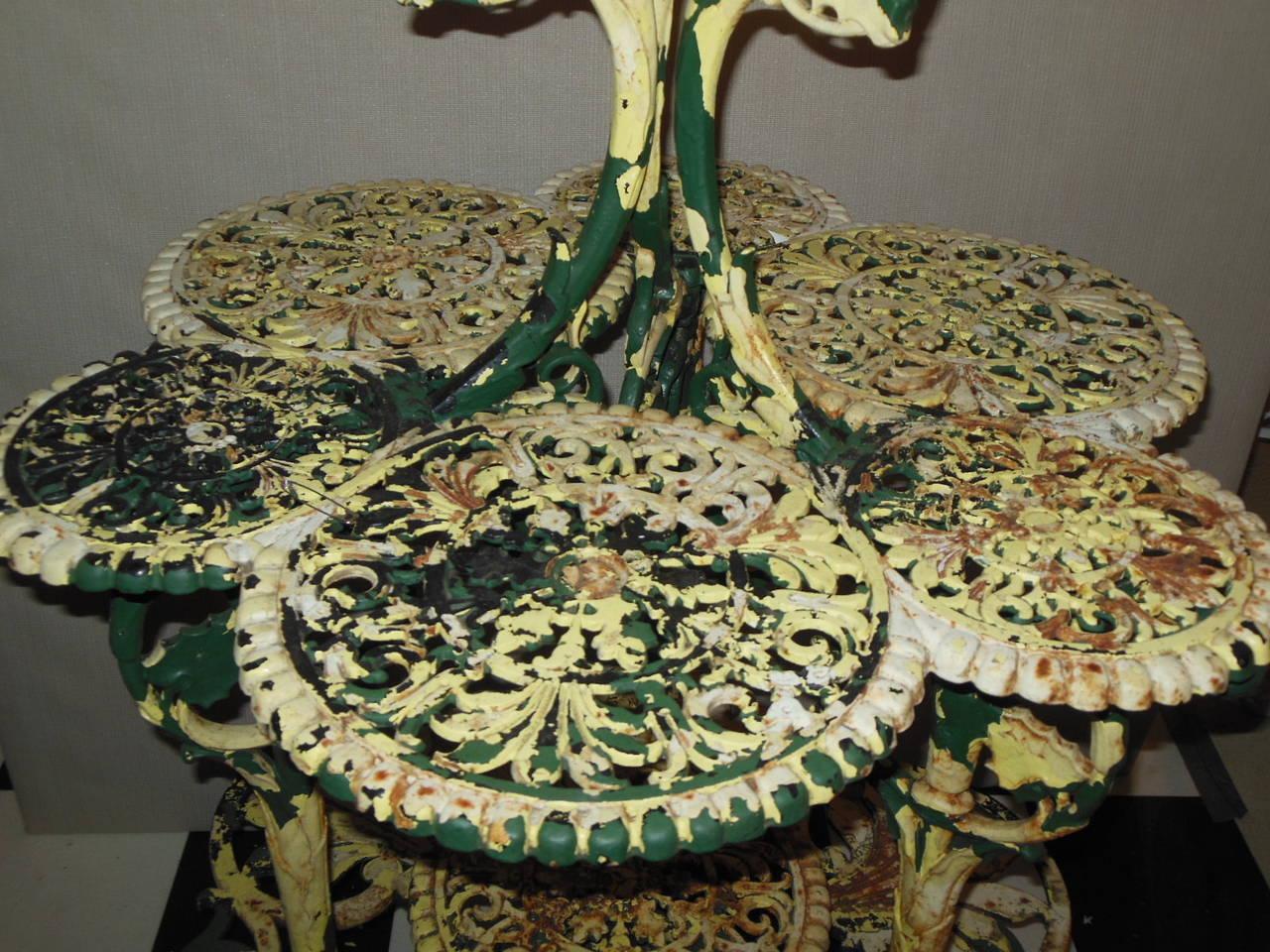 "Antique Plant Stand Cast Iron ""Coalbrookdale"" 5"