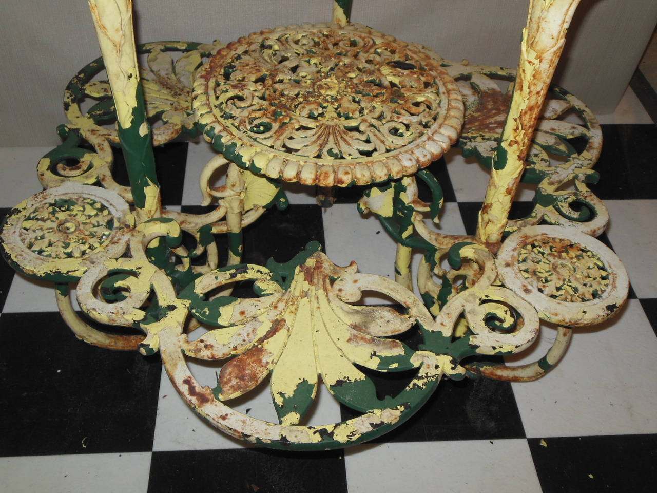 Late 19th Century Antique Plant Stand Cast Iron
