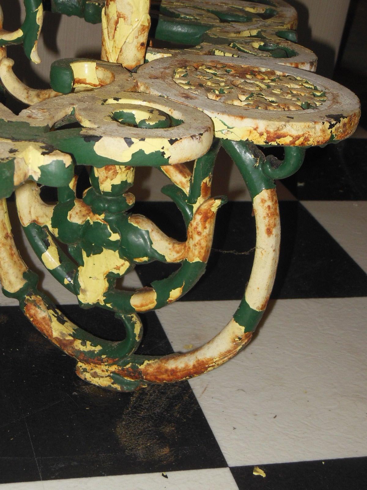 "Antique Plant Stand Cast Iron ""Coalbrookdale"" 8"