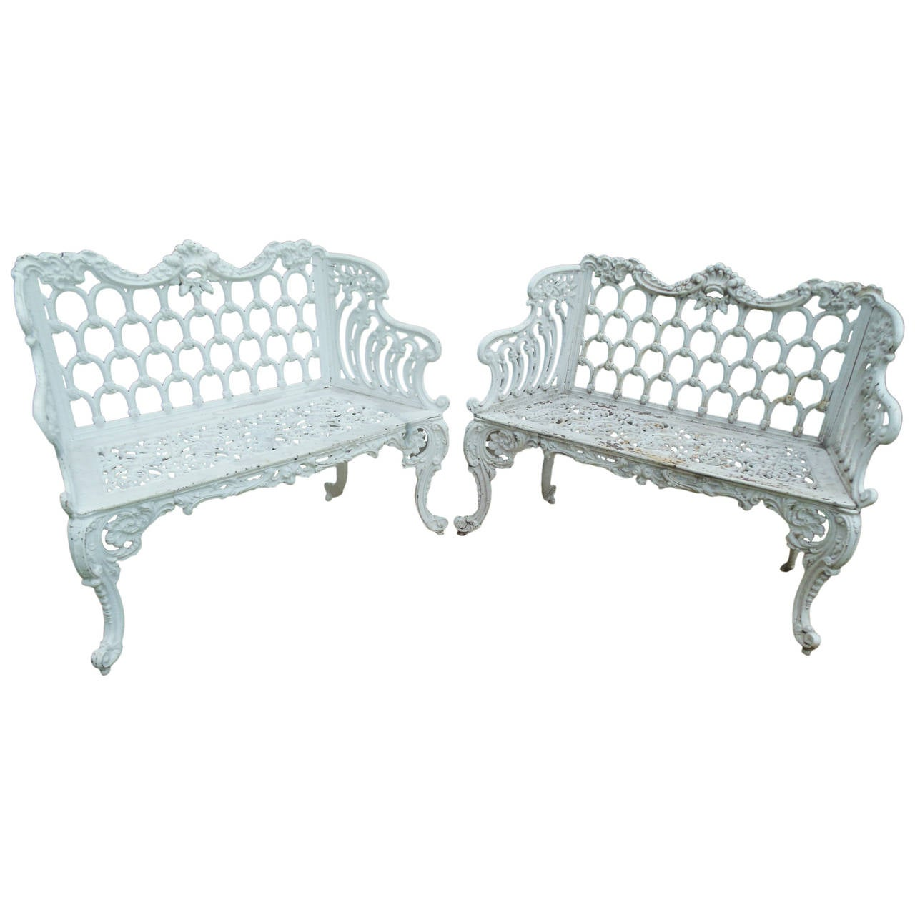 benches cast iron pair of white house garden benches at