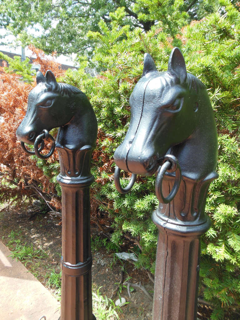 Antique Hitching Posts With Horse Heads At 1stdibs