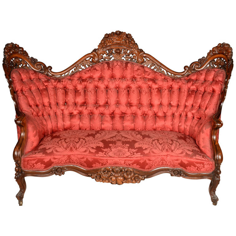 John Henry Belter Loveseat At 1stdibs