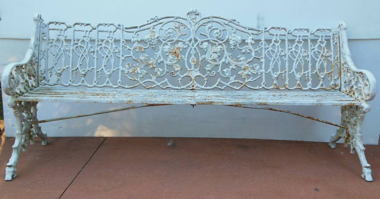Pleasing White Garden Benches Wrought Iron Wrought Iron Heart Bench Gmtry Best Dining Table And Chair Ideas Images Gmtryco