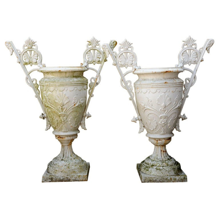 American Urns, Cast Iron , late 19th Century
