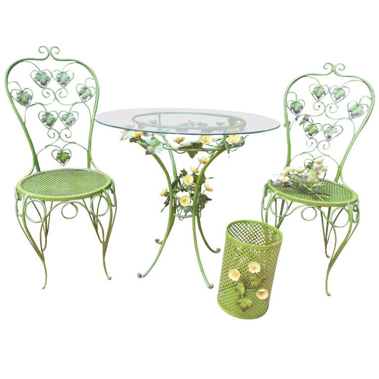 Tole Italy  City pictures : Italian Tole Bistro Set at 1stdibs
