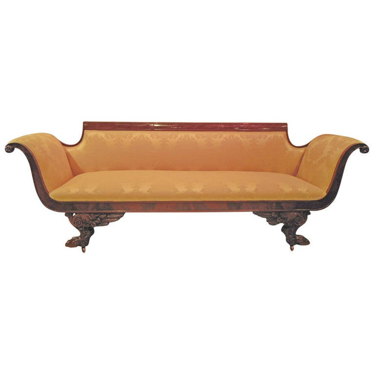 American Classical Sofa Attributed To Duncan Phyfe At 1stdibs