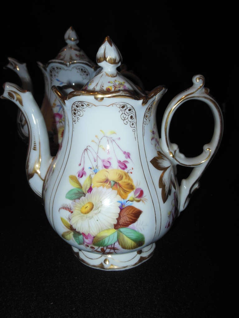 19th Century Old Paris Tea Set Rococo Style For Sale